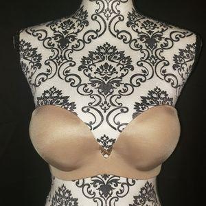 Victoria Secret Strapless Padded Nude Bra